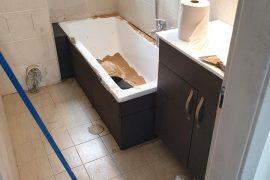 התקנת אמבטיה חדשה וסניטריה